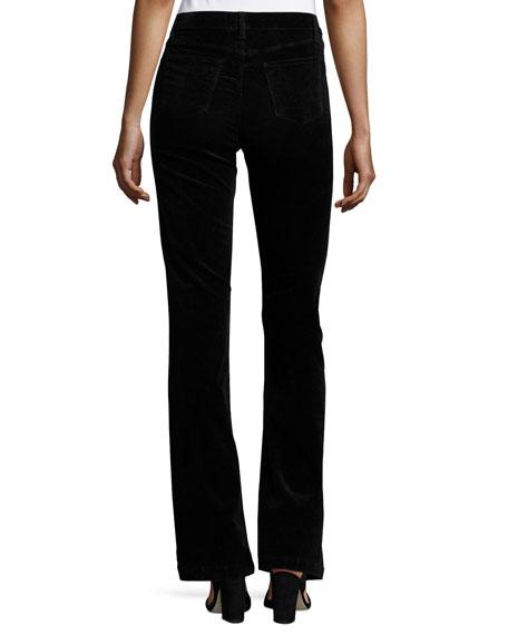 Maria Flare Velvet Pants, Black