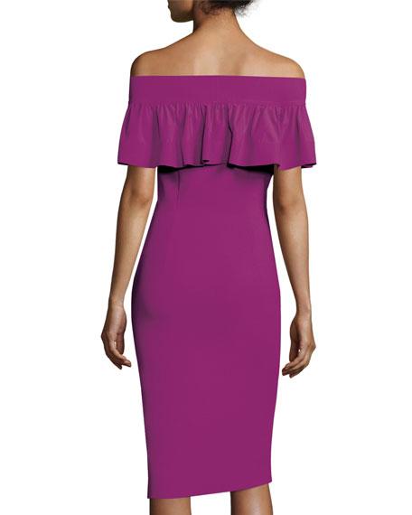 Off-the-Shoulder Contour Popover Dress