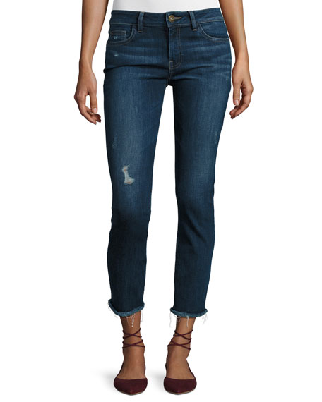 Mara Instasculpt Ankle Straight-Leg Jeans, Ravine