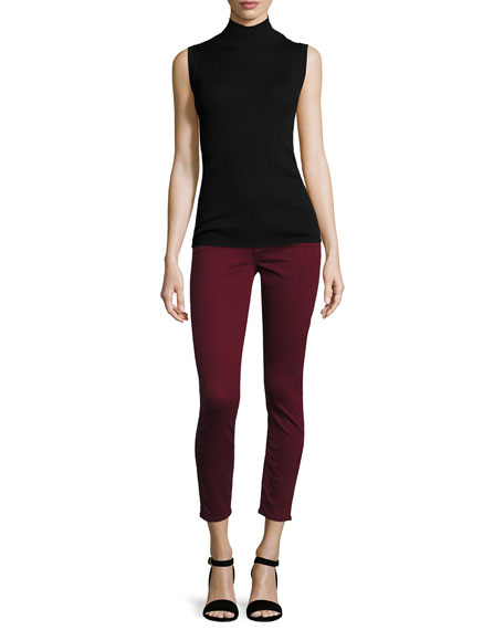 The Ankle Skinny Jeans, Cranberry