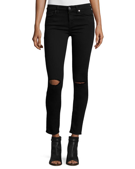 7 For All Mankind The Ankle Skinny Ripped