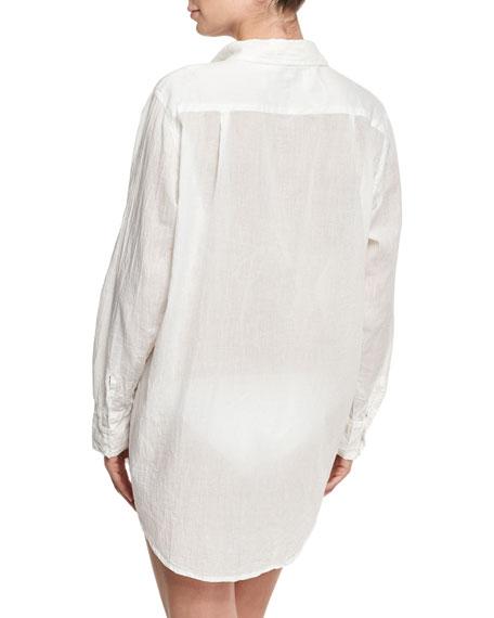 Button-Front Beach Shirt