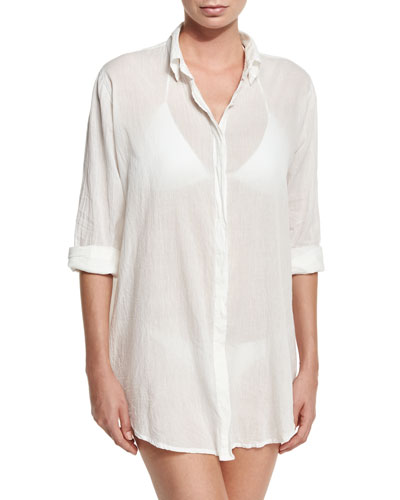 Button-Front Beach Shirt