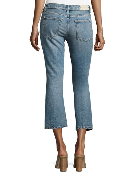 Freya Cropped Flare Jeans, Denim