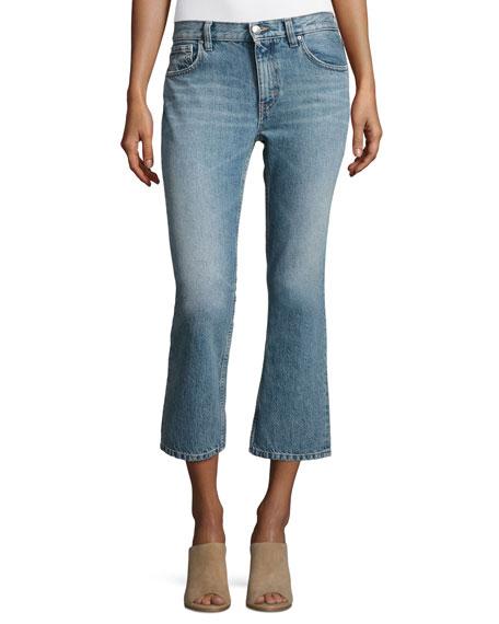 Freya Cropped Flare Jeans, Denim