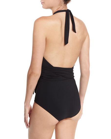 Prima Cross-Halter One-Piece Swimsuit