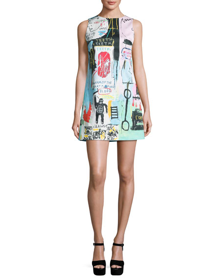 63ebf624616 Alice + Olivia Clyde Graffiti-Print Shift Dress