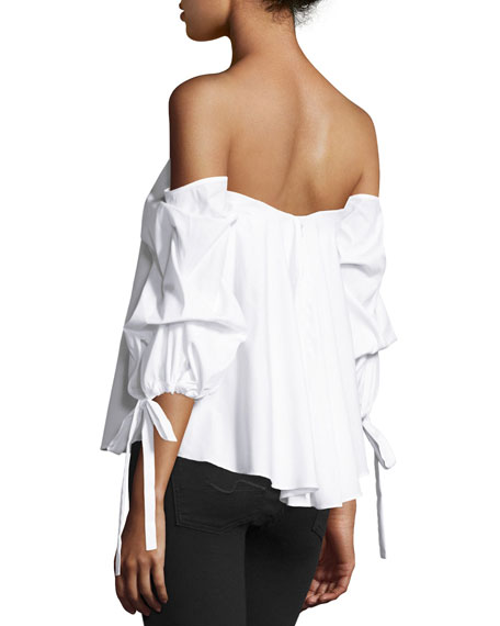 Gabriella Off-The-Shoulder Bustier Top