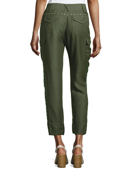 Easy Cargo Pants with Grommets, Military