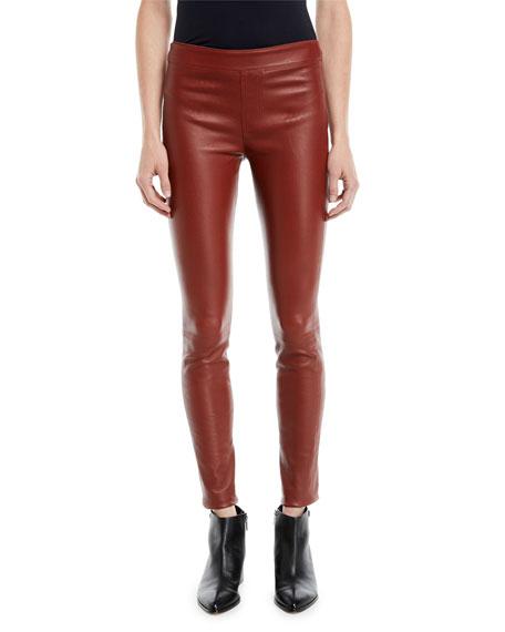 Helmut Lang Lamb Leather Leggings, Sapphire