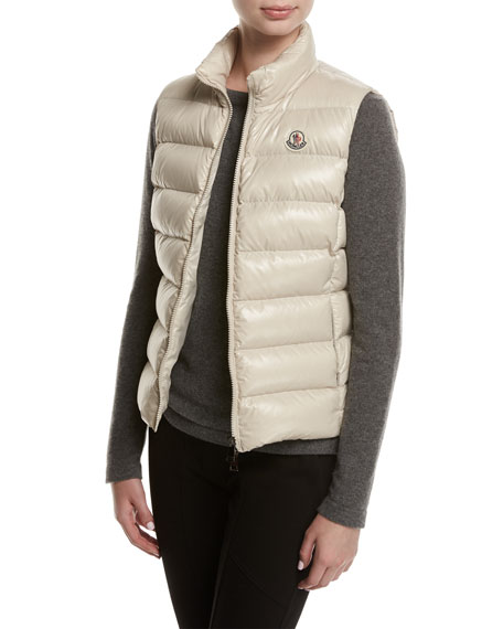 Shiny Moncler Puffer Quilted Ghany Vest gcZqBw5Z4