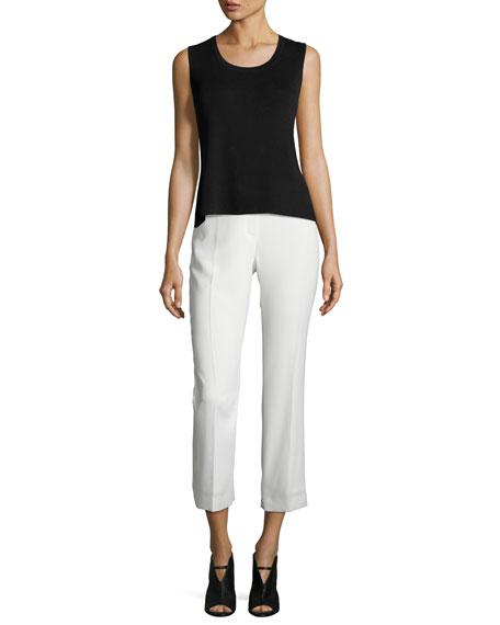 Harper High-Rise Cropped Pants, White