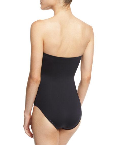 Classic Weave Bandeau One-Piece Swimsuit