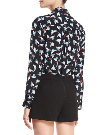 Willa Dove & Heart Print Shirt