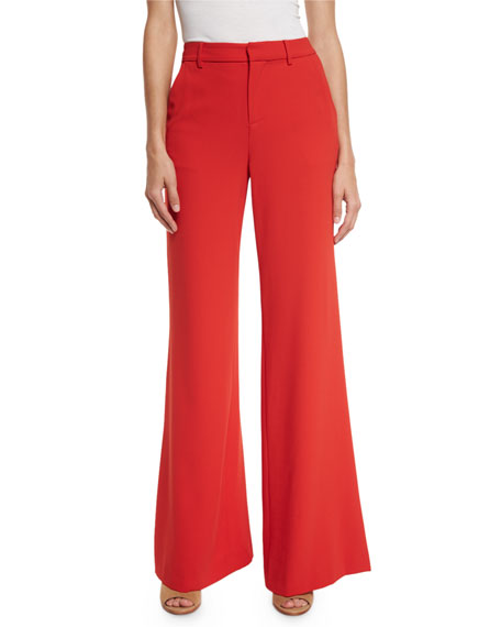 Paulette High-Waist Wide-Leg Pants