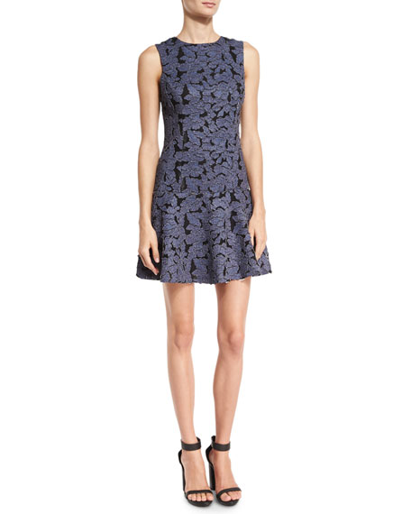 Fonda Floral-Lace Drop-Waist Dress