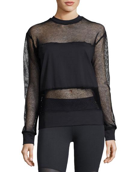 Carlton Mesh Sweatshirt, Black