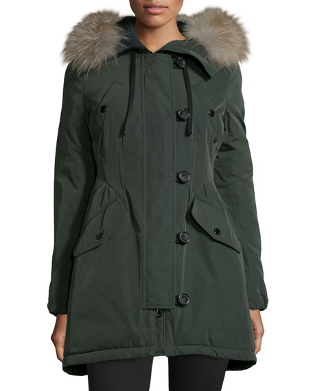 e0a64c7c5dc Aredhel Hooded Down Fur-Trim Jacket
