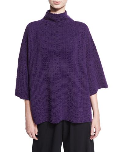 Ripple-Knit Merino Wool Sweater, Tincture