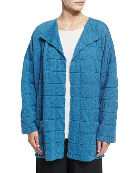 Tile-Design Jacket Cardigan, Inlet