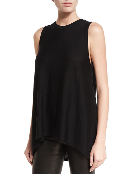 Alice + Olivia Karma Crewneck High-Low Muscle Tank,