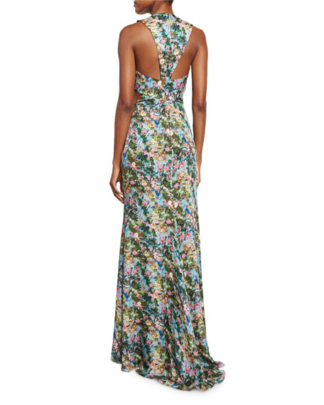 Draped Gown Pattern: 3 Stores In Stock: CUSHNIE ET OCHS Floral Draped Cutout