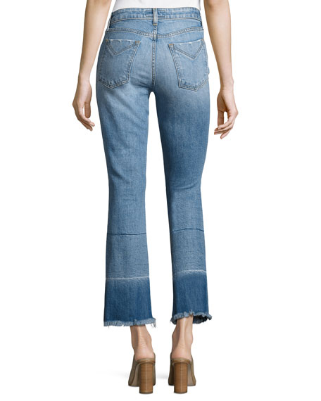 Jane Mid-Rise Flare-Leg Jeans, Indigo
