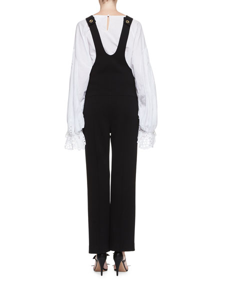 Virgin Wool Overalls, Black