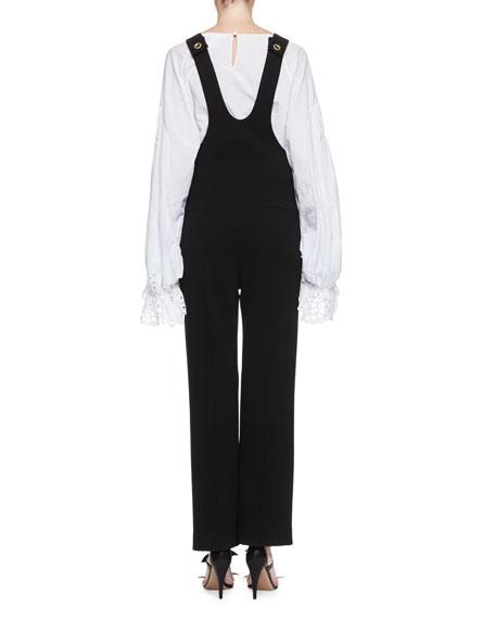 Virgin Wool Overalls, Black