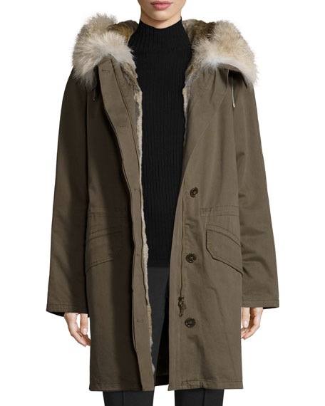 Army By Yves Salomon Classic Parka w/Fox &