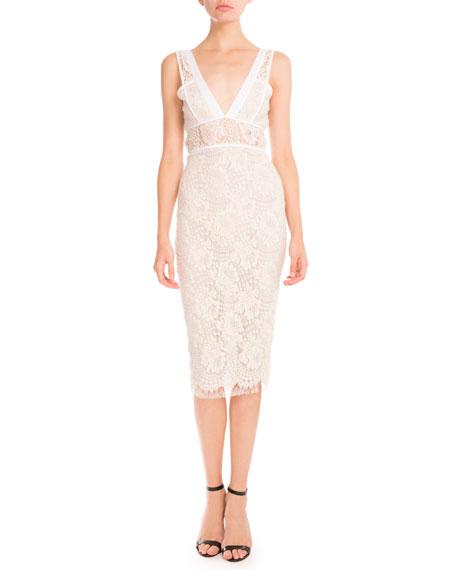 Lace Sleeveless Sheath Dress