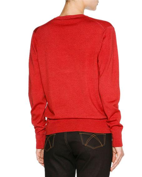 Overdyed Merino V-Neck Sweater