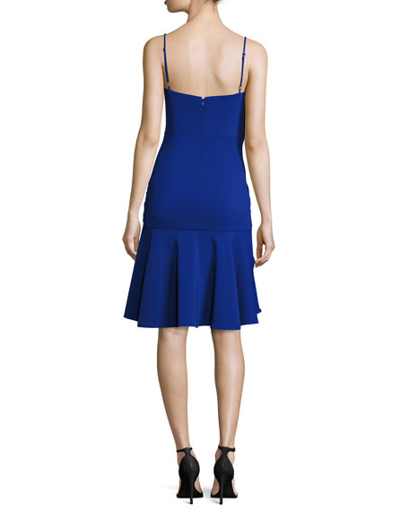 Kelly Sweetheart Fit-&-Flare Dress, Cobalt
