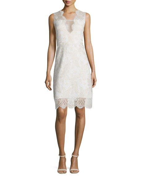 Anne Sleeveless V-Neck Lace Dress