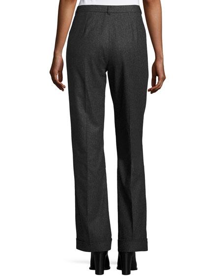Stephanie Merino Wool Pants, Charcoal