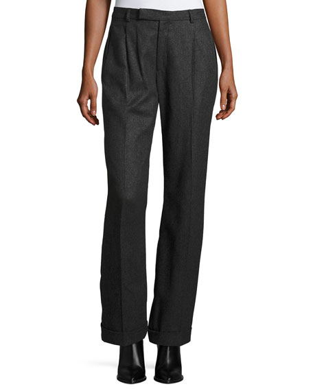 Stephanie Merino Wool Pants, Charcoal