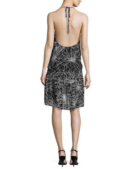 Serana Popover Halter Dress