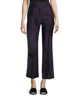 Cropped High-Waist Pants