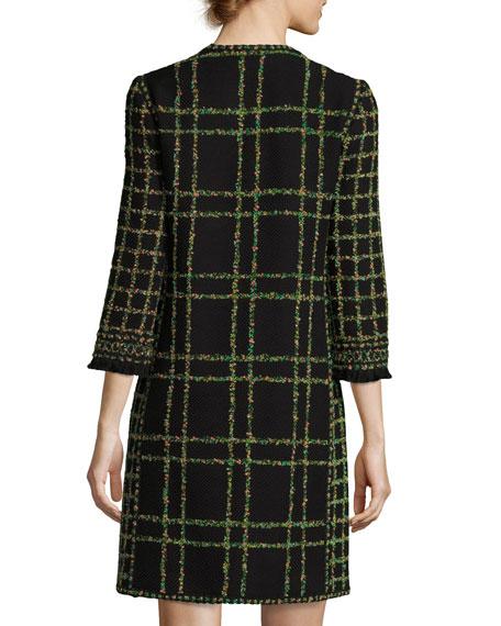 Zip-Front Garden Tweed Coat