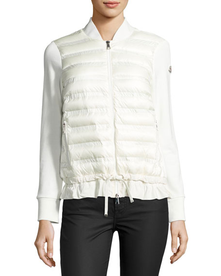 Maglia Quilted Down Cardigan