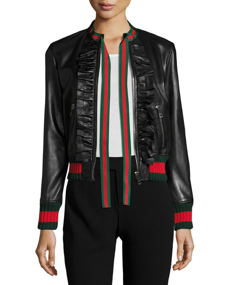 Napa Bomber Jacket w/Web Trim, Black