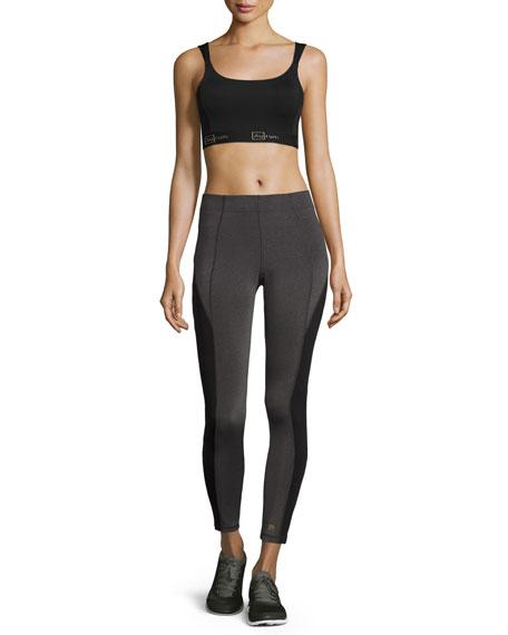 Colorblocked Mid-Rise Leggings, Gray/Black