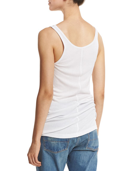 Ribbed Scoop-Neck Tank Top