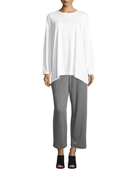 Cropped Pima Cotton Trousers