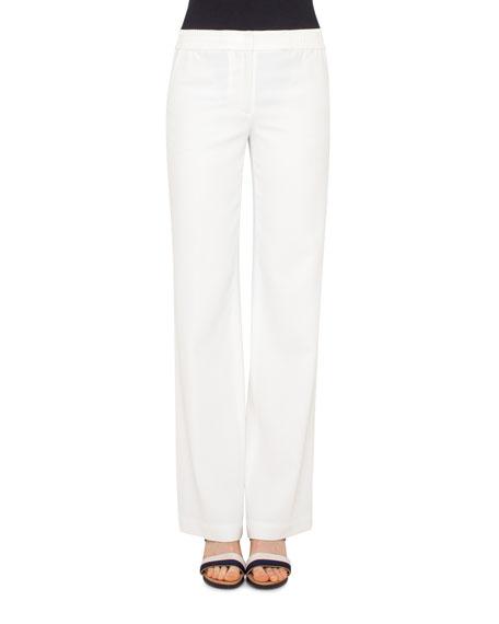 Akris punto Marla Wide-Leg Pants, Cream