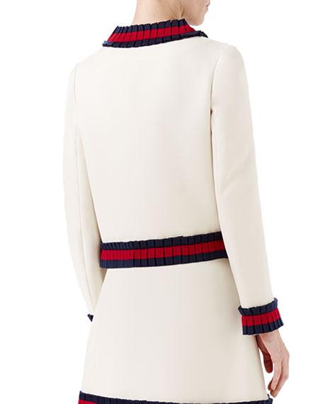 Cady Crepe Jacket w/Knit Detail, Multi