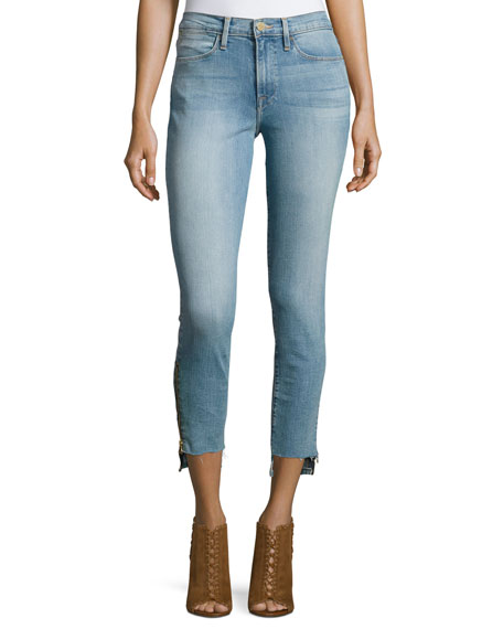Le High Skinny Stagger-Zip Jeans, Jackson