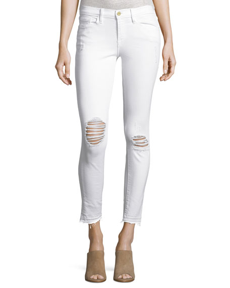 FRAME Le Skinny de Jeanne Crop Released-Hem Jeans,