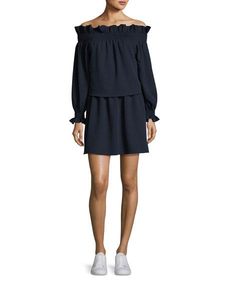 Georgie Off-the-Shoulder Popover Mini Dress