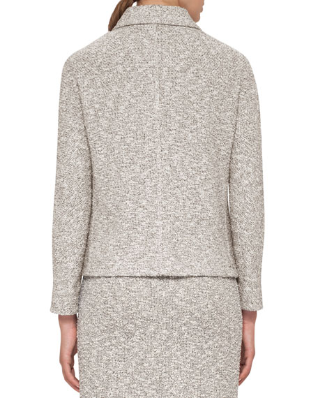 Hadow Boucle Tweed Jacket, Black/White